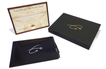 Star name registry gift box and contents